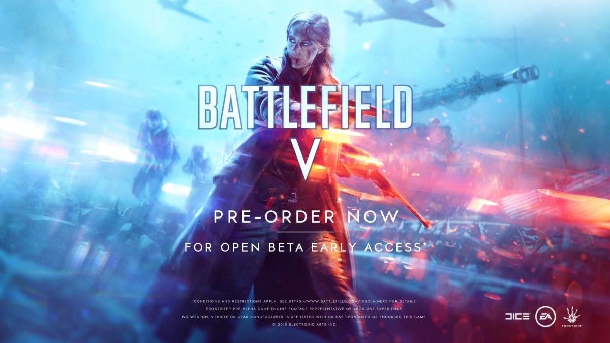 Battlefield V : précommander assure l'accès à la beta, permet de débloquer 5 armes de BF1, et bien plus !