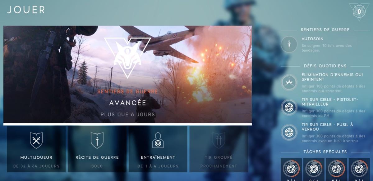 """Battlefield V """"Sentiers de guerre"""" : les 4 contenus à débloquer en décembre 2018 dans les chapitres 1 et 2"""