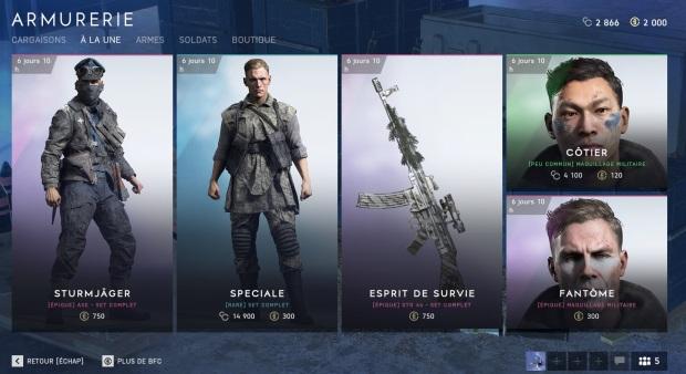 battlefield-v-bf5-nouveaux-skins-epiques-debloquer-gratuitement-details-armurerie-page-accueil-entree-avril-2019-image-01